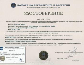 Удостоверение ЦПРС група II (III - IVк.)